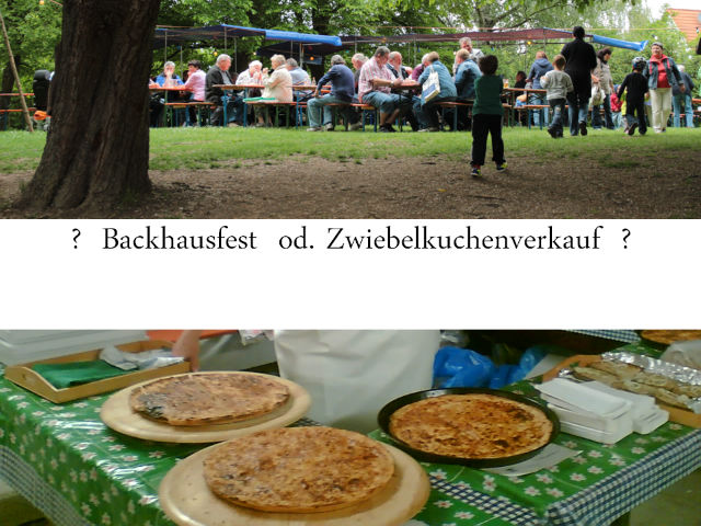 Backhausfest oder Zwiebelkuchenverauf